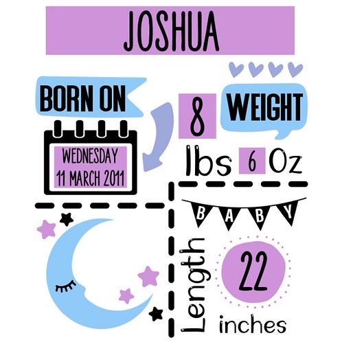 Personalised Birth Announcements (E)