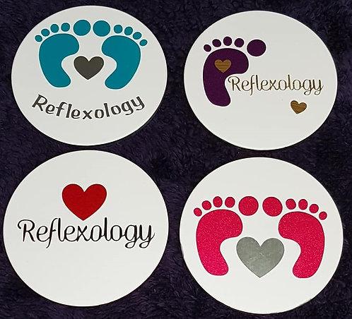 Reflexology Themed Ceramic Coasters