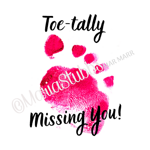 Reflexology Toe-tally Missing You! Greeting Card/Postcard/Gift Voucher/Poster