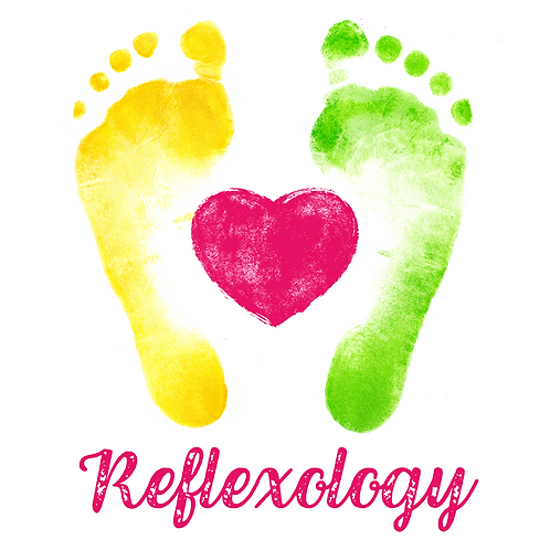 Feet, Heart & Reflexology Greeting Card/Postcard (Blank)