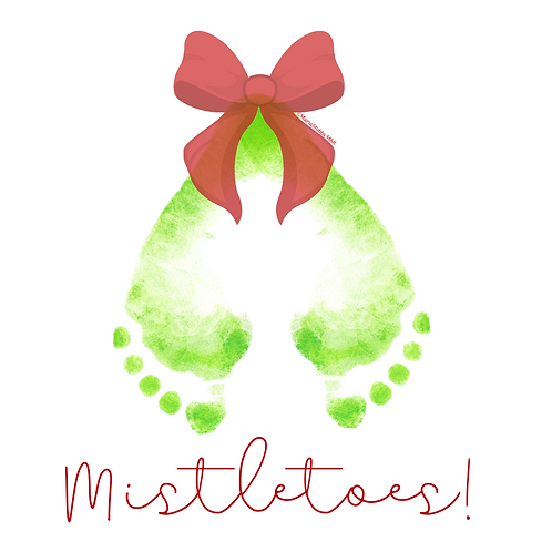 Reflexology Christmas Cards/Postcards (Mistletoes!)