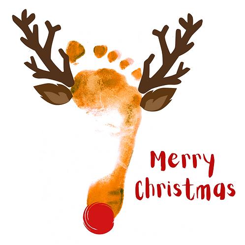 Reflexology Christmas Cards/Postcards (Rudolph)