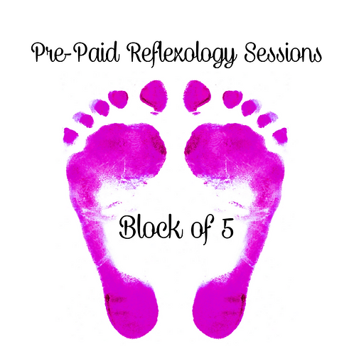 Pre-Paid Reflexology Sessions (Block of 5)