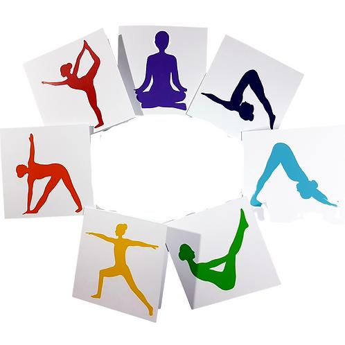 Yoga Pose Greeting Card/Postcard (Blank)
