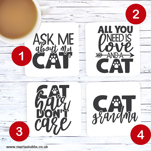 Cat Lover MDF Coasters