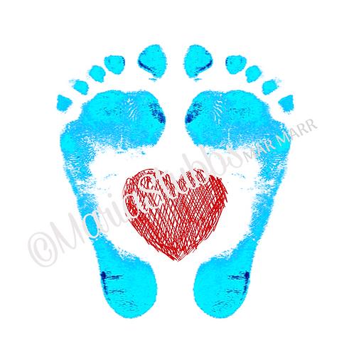 Reflexology Feet with Scribble Heart Greeting Card/Postcard/Gift Voucher/Poster