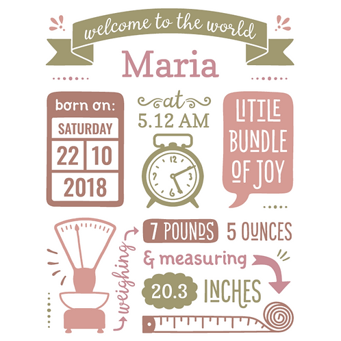 Personalised Birth Announcements (D)