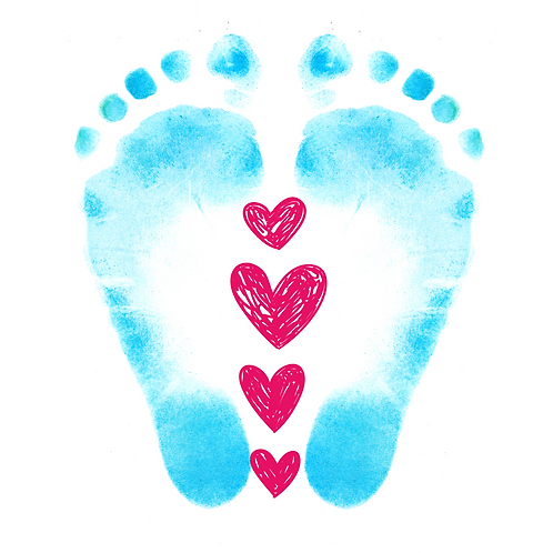 Feet with String of Hearts Greeting Card/Postcard (Blank)