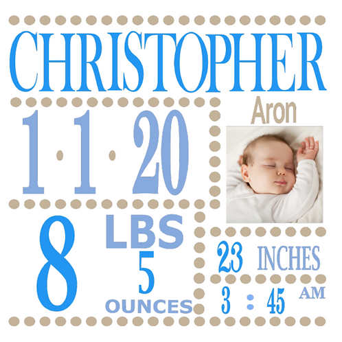 Personalised Birth Announcements (B)