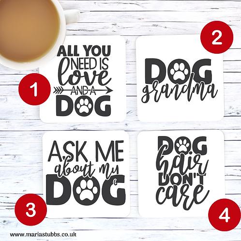 Dog Lover MDF Coasters