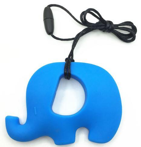 Necklace with Large Elephant Teething/Chewable Pendant