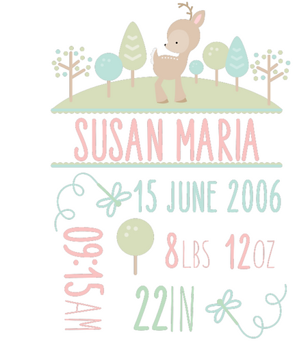 Personalised Birth Announcements (C)