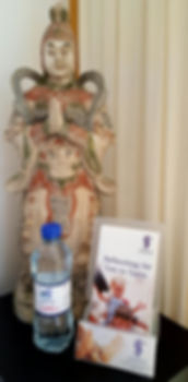 Chinese General Statue in my Therpy Room