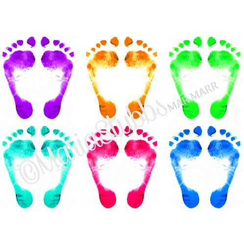 Reflexology Many Feet Greeting Card/Postcard/Gift Voucher/Poster