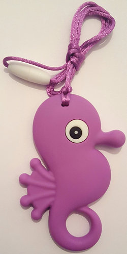 Necklace with Teething/Chewable Sea Horse Pendant