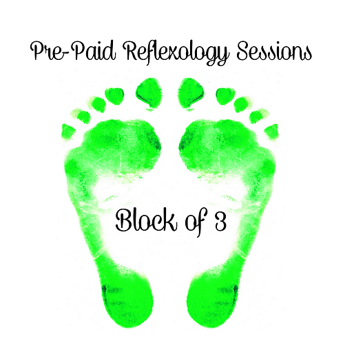 Pre-Paid Reflexology Sessions (Block of 3)