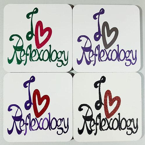 Reflexology Themed MDF Coasters