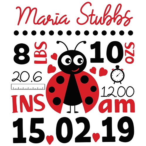 Personalised Birth Announcements (A)
