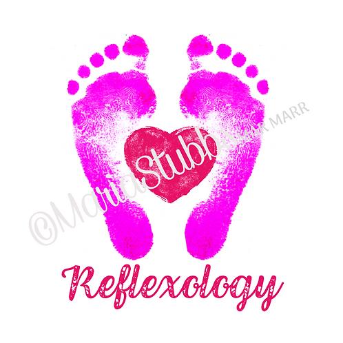 Reflexology Feet Heart Greeting Card/Postcard/Gift Voucher/Poster