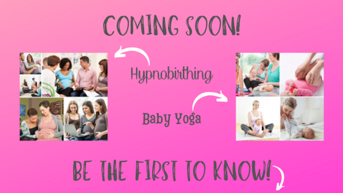 Landing Page Hypnobirthing and Baby Yoga