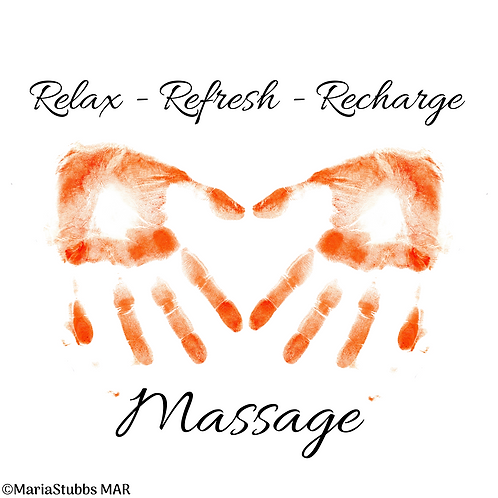Relax Refresh Recharge Massage Greeting Card/Postcard (Blank)