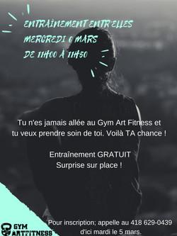 Gym -5 places dispo