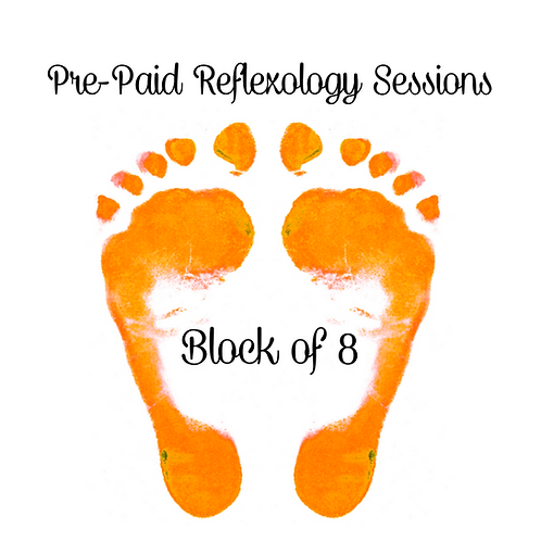 Pre-Paid Reflexology Sessions (Block of 8)