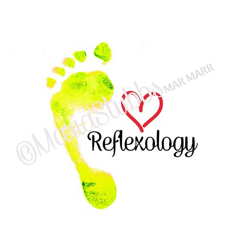 Foot with Heart Reflexology Greeting Card/Postcard/Gift Voucher/Poster