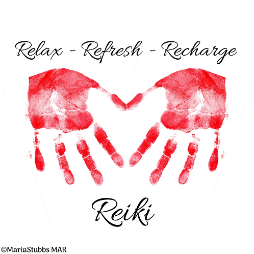 Relax Refresh Recharge Reiki Greeting Card/Postcard (Blank)