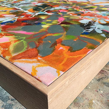 Handmade raw oak frames.