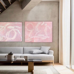 Pink abstracts in situ