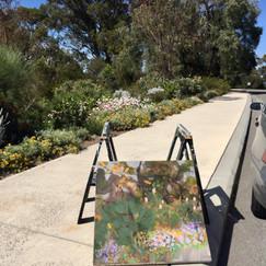Painting plein-air.