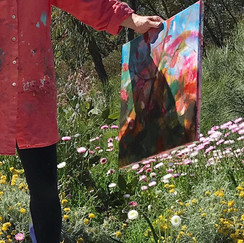 Painting in Kings Park WA.