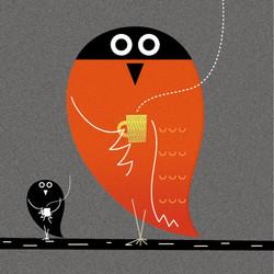 コーヒーを飲むことで、フクロウは夜通し過ごせるようになる。