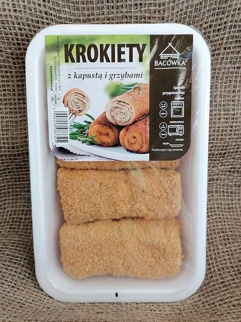 Kroketten mit Sauerkraut und Pilze