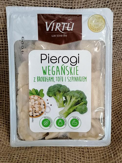 Pierogi mit Brokkoli, Tofu und Spinat Vegan