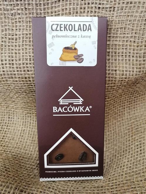 Vollmilch Schokolade mit gerösteter Kaffeebohnen