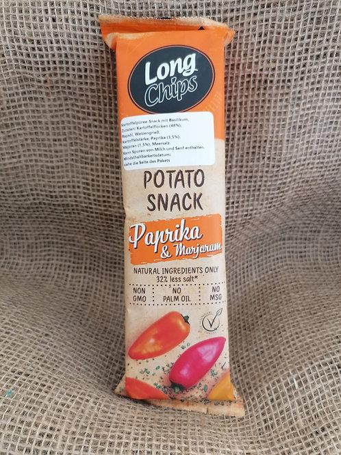 Kartoffel Chips Paprika Majoran Vegan
