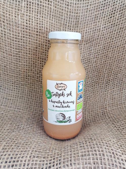 Eingelegter Sauer Kraut Saft mit Karotte nicht pasteurisiert Bio