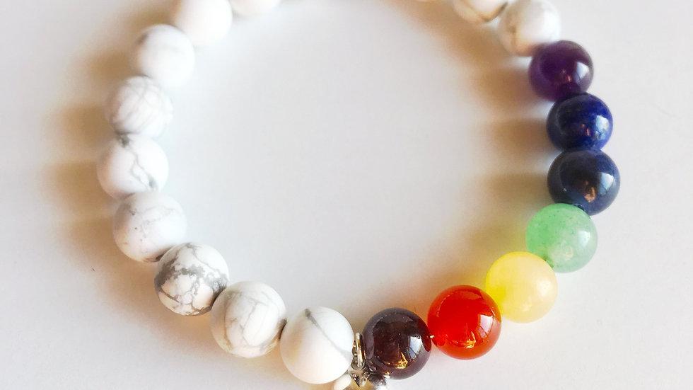 One Love  7 Chakras Love Bracelet  Mixed Bracelet