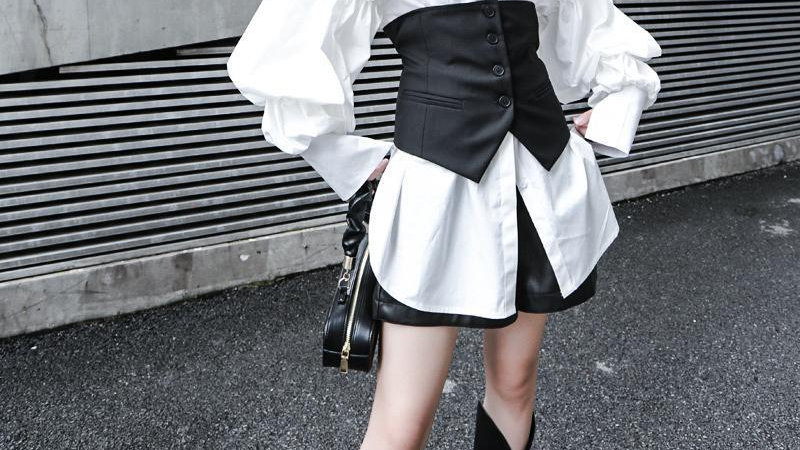 Akino Button Waist Vest