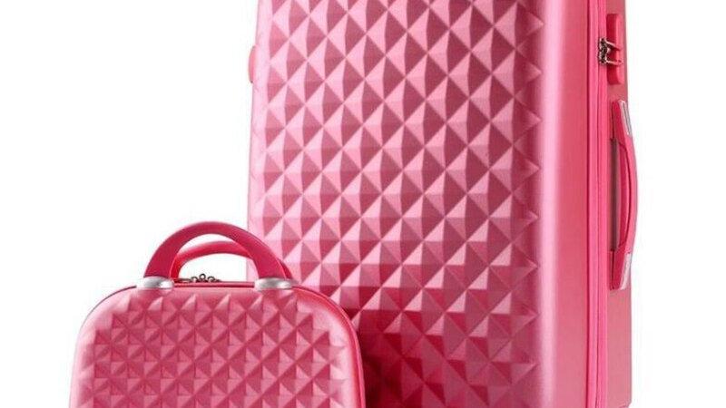 TRAVEL TALE Girls Cute Trolley Luggage Set ABS Hardside