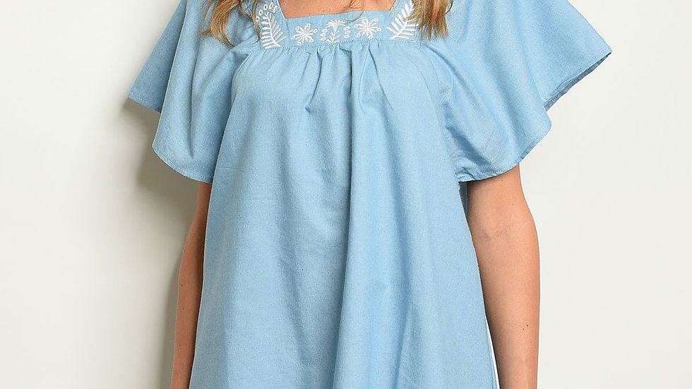 Womens Denim Tunic Dress