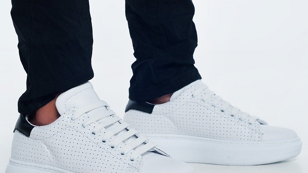Sneakers White Perforated
