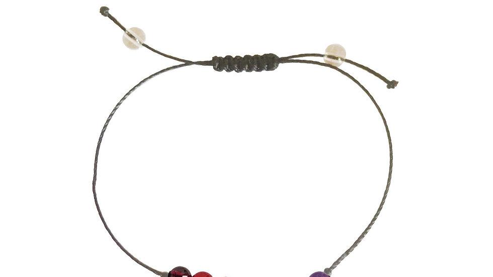 Balancing the 7 Chakras + Nylon + Choice of Anklet or Bracelet