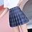 Thumbnail: QRWR XS-3XL Plaid Summer Women Skirt 2020 High Waist Stitching  Pleated Skirts