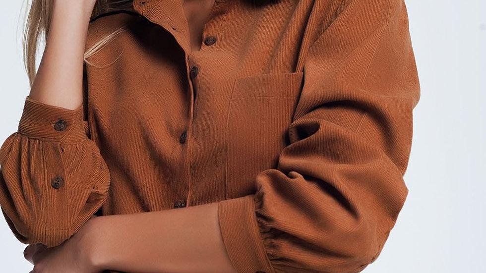 Brown Cord Shirt