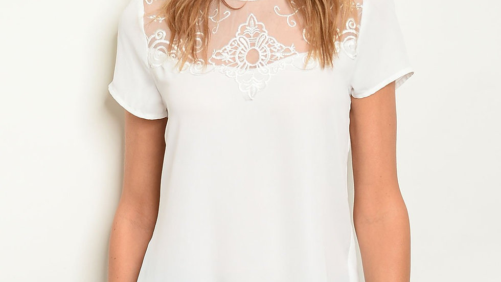 Womens Mesh Lace Top