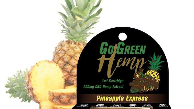 GoGreen Hemp CBD 200mg Pre-Filled Pineapple Express Cartridge