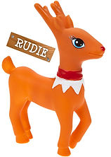 This is Rudie. Rudie is the Elves Behavin Badly's favourite Reindeer.